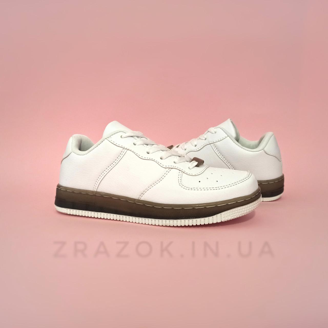 Кросівки білі Nike Air Force low копія літні найк еір форс шкіряні