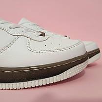 Кросівки білі Nike Air Force low копія літні найк еір форс шкіряні, фото 3