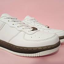 Кросівки білі Nike Air Force low копія літні найк еір форс шкіряні, фото 2