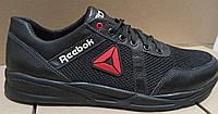 Баталы Рибок Новинка ! Reebok летние мужские кроссовки большого размера сетка черные с красным!.
