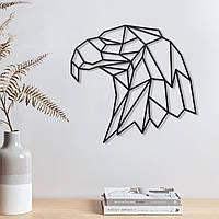 Орёл деревянный Орёл с фанеры Орёл черный Орёл на стену Голова орла Крашеная фанера Декор гостинной XL: 500x470