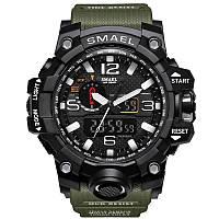 Smael 1545 зеленые мужские спортивные  часы, фото 1
