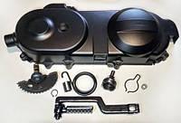 Кришка варіатора на скутер комплект (колесо 10) 4T GY6-50 139QMB (крышка вариатора)