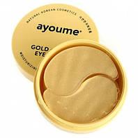 Гидрогелевые патчи с золотом и муцином улитки Ayoume Gold Snail Eye Patch  60 шт