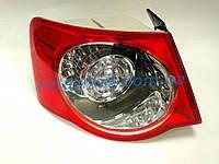 Фонарь задний для Volkswagen Jetta V '06-10 левый (DEPO) внешний LED