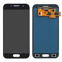 Дисплей SAMSUNG A320 Galaxy A3 (2017) с чёрным тачскрином