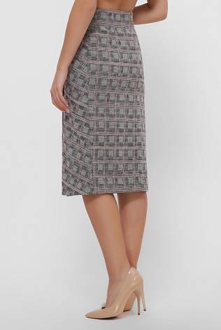 Прямая юбка миди ровного силуэта на запах из мягкого кашемира, фото 2