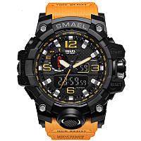 Smael 1545 оранжевые мужские спортивные  часы, фото 1