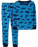 Трикотажная детская пижама Зверюшки Картерс для мальчика