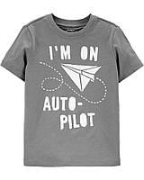 Детская футболка с принтом ОшКош для мальчика