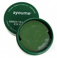 Патчи для глаз с экстрактом зеленого чая и алоэ Ayoume Green Tea + Aloe Eye Patch  60 шт