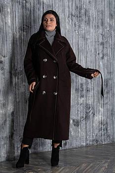 / Размер 50,52,54,56 / Женское длинное пальто в стиле oversize Француз кашемир