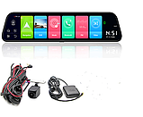 Зеркало с видеорегистратором E-ACE D14 Интернет 4G WiFi GPS  Память 2/32 Гб Андроид 8.1, 12 дюймов, две камеры, фото 5