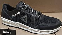 Баталы Рибок Новинка ! Reebok летние мужские кроссовки большого размера сетка черные с серым!.