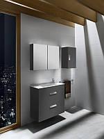 Шкафчик с умывальником (с сифоном) серый антрацит DEBBA ROCA A855907153