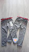Серые лосины брюки оптом  для девочек от 2 до 7 лет