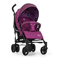 Коляска детская ME 1013L RUSH Ultra Violet (1шт) прогулочная,трость,колеса4шт,подстак,чехол,лен,фиол
