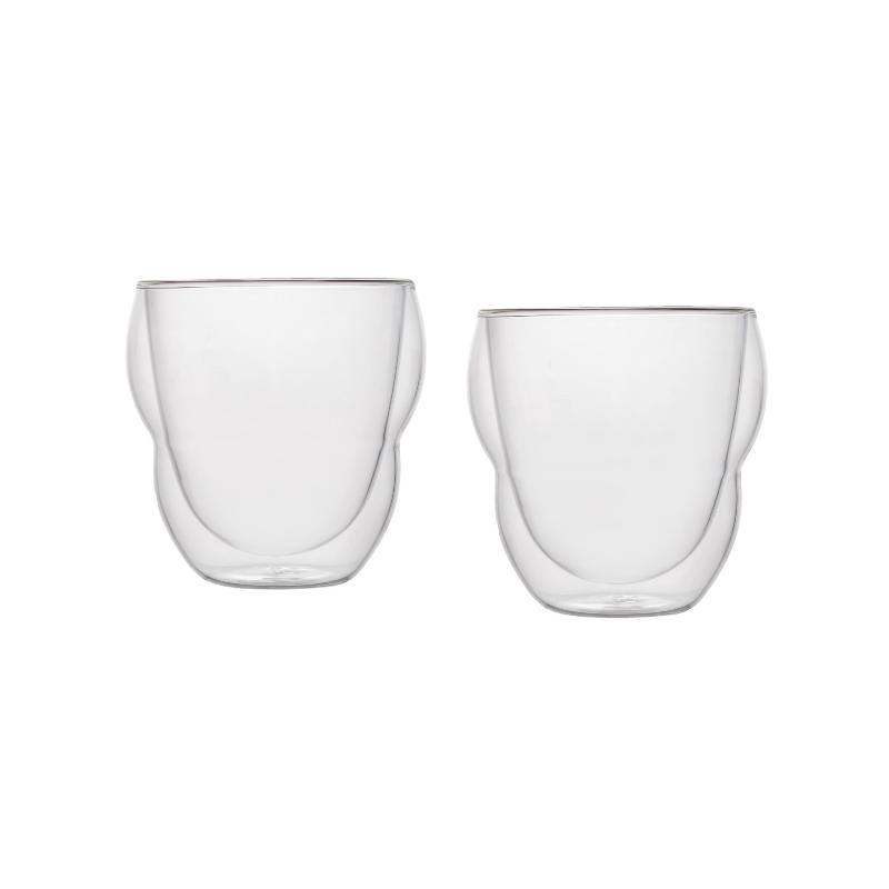 Комплект стаканов с двойным дном 2 шт 270 мл стаканы двойное дно