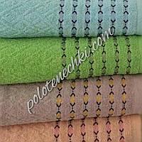 Махровое банное полотенце Строчка, фото 1