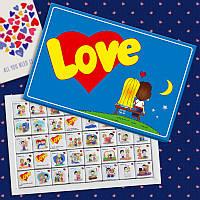 """Шоколадный набор """"Love is"""" 200 г - Подарок для для любимого/любимой - Признание в любви"""