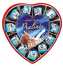 Конфеты шоколадные пралине с молочным кремом и злаками Maitre Truffout Pralines 165 г Австрия