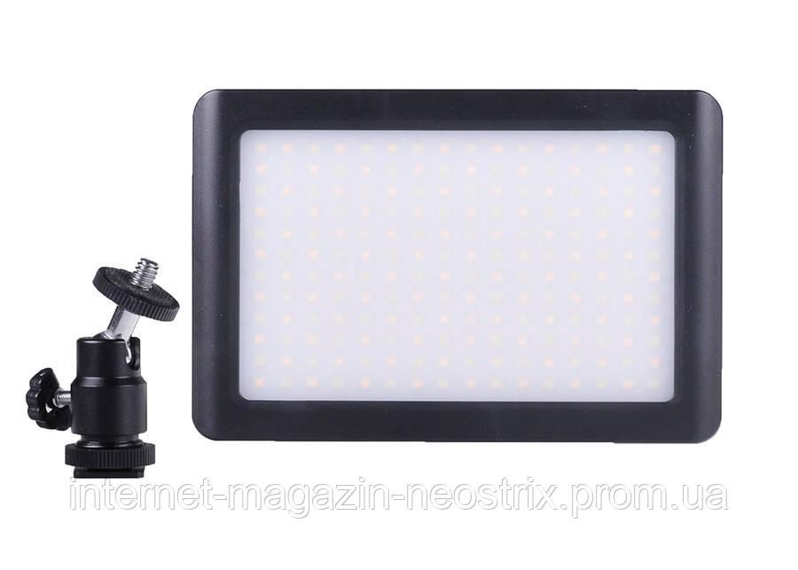 Накамерная светодиодная LED панель Massa PAD-192 3200-6000K