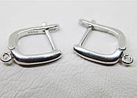 Застежки швензы серебряные родированные для сережек  (2,21 г)