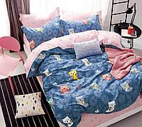 Комплект постельного белья двуспальный - Совушки, 180*220, сатин, (620.745)