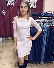 Платье белое Гипюр