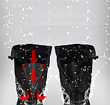 Бахилы для обуви от дождя, снега, грязи 2Life XL многоразовые, с молнией и шнурком-утяжкой Черный (n-469), фото 6