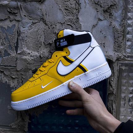"""Кроссовки Nike Air Force High LV8 """"Белые / Желтые"""", фото 2"""