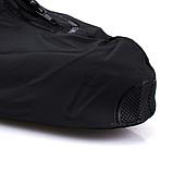 Бахилы для обуви от дождя, снега, грязи VOLRO XL многоразовые, с молнией и шнурком-утяжкой Черный (vol-469), фото 4