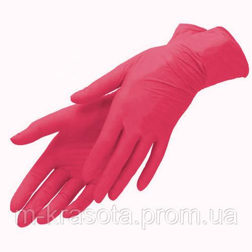 """Перчатки нитриловые  красные """"Престиж Медикал""""XS, 100 шт"""
