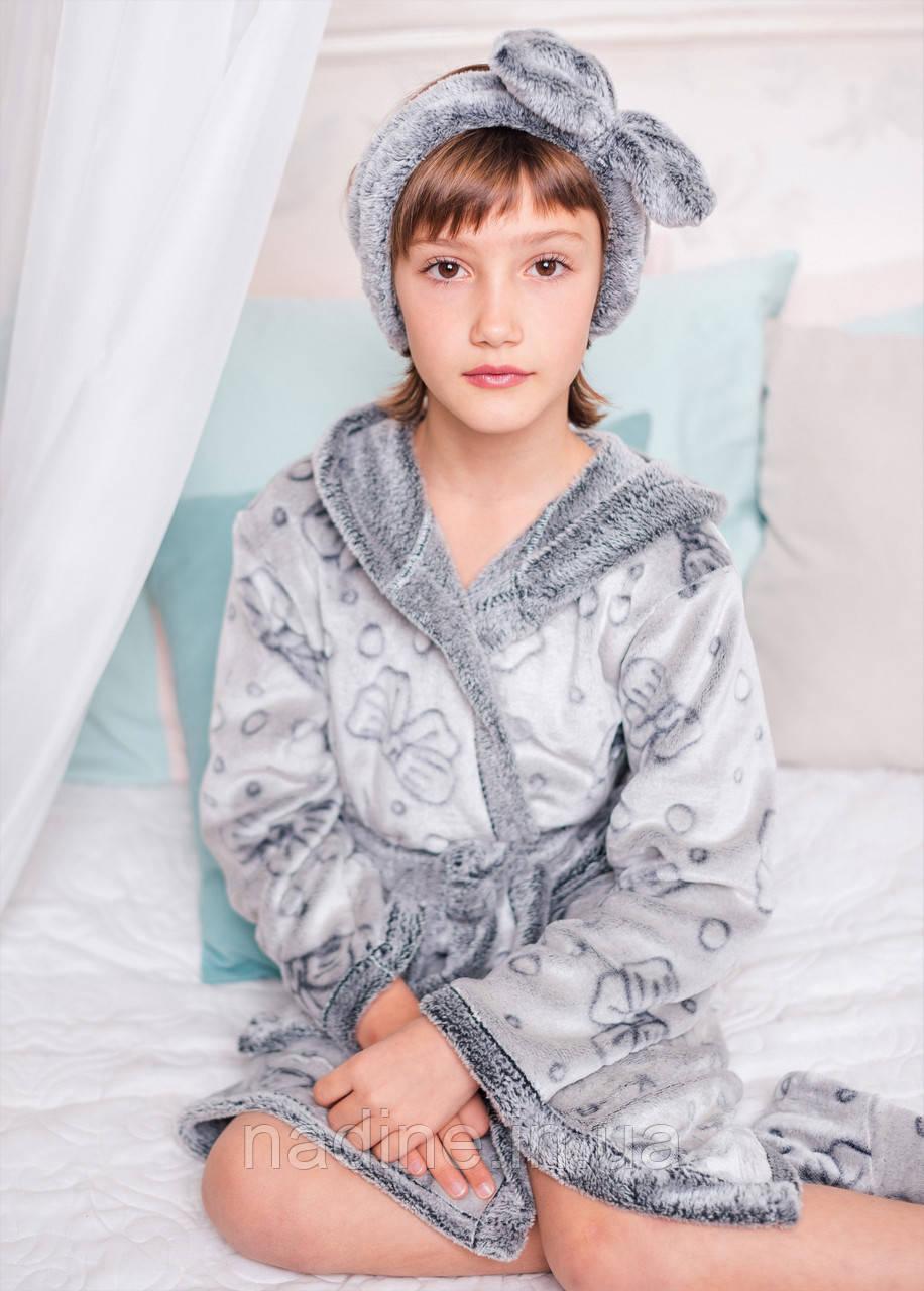 Халатик Silver Eirena Nadine (46-529) рост 146 серый