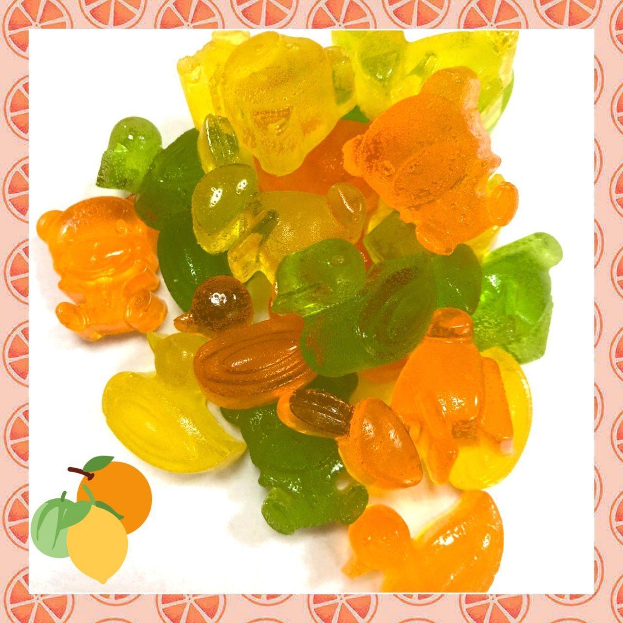 Жевательный мармелад Фигурки цитрусовые ( мандарин, апельсин, лимон-лайм) 200 грамм