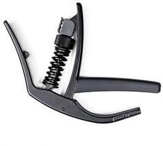 Каподастр для акустической/электрогитары с радиусной накладкой грифа  D'ADDARIO PW-CP-10 ARTIST CAPO (Black)