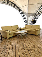 Комплект мягких кожаных диванов «Монклер Люкс»