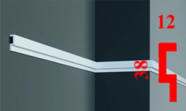 Напольный тонкий плинтус из дюрополимера 38 мм, 2,0м