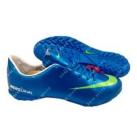 Футбольная бампы (сороконожки) Nike Mercurial U1026-2-6 Blue, р. 40-45
