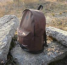Стильный мужской рюкзак Nike, Найк с кож. дном. Коричневый с черным, фото 3