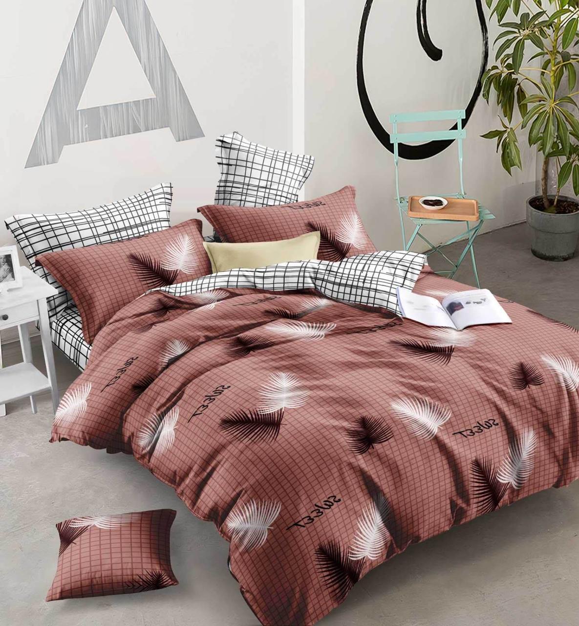Двуспальный комплект постельного белья евро 200*220 хлопок  (13556) TM KRISPOL Украина