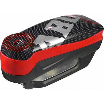 Замок на диск с сигнализацией ABUS 7000 DETECTO RS1 pixel red