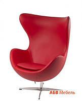 Кресло Эгг кожзам Красный (СДМ мебель-ТМ)