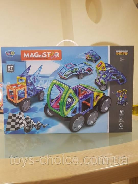 Магнитный конструктор MAGniSTAR «Транспорт» 87 деталей Limo Toy