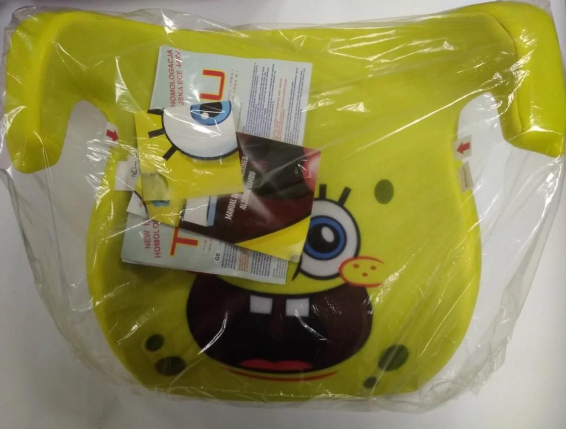 Бустер Tambu Phenix для дітей вагою 15-36 кг Губка Боб жовтий