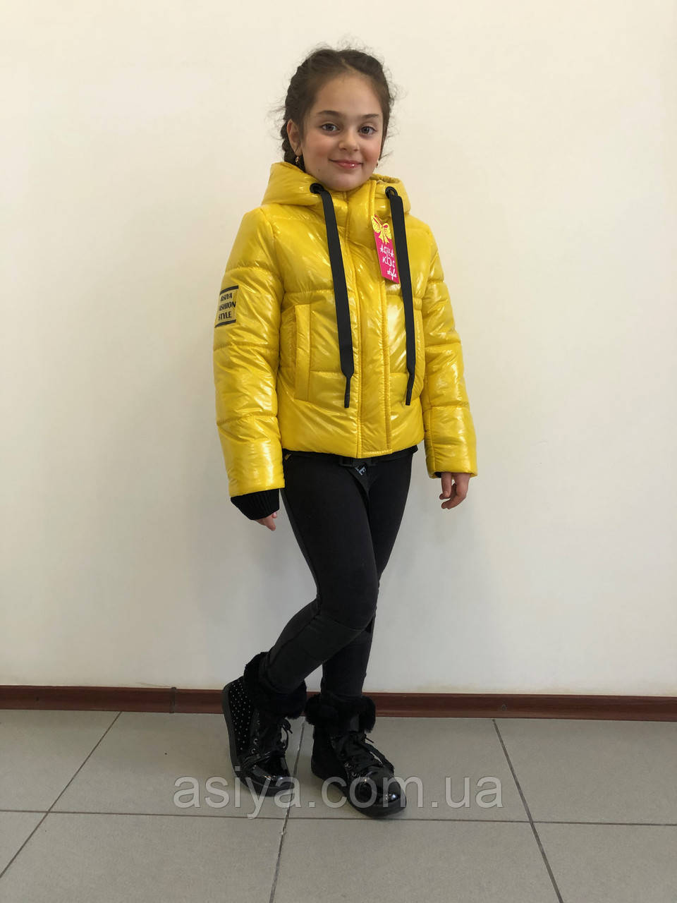 "Куртка весенняя ""Софи"" на девочку желтого цвета"