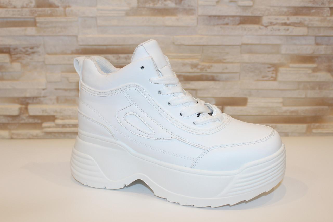 Кроссовки белые высокие Т1000