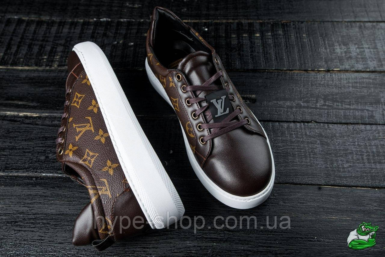Чоловічі шкіряні кросівки в стилі Louis Vuitton | Висока Якість!