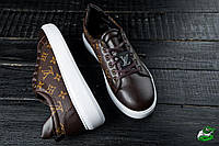 Чоловічі шкіряні кросівки в стилі Louis Vuitton | Висока Якість!, фото 1