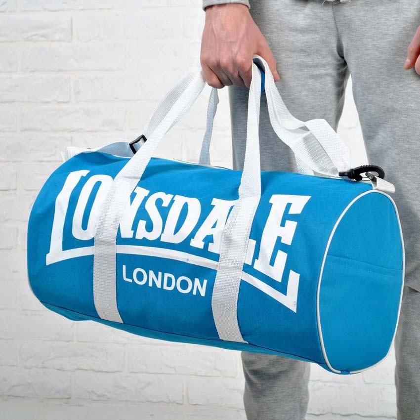 Спортивна сумка Lonsdale London. Для тренувань. Блакитна з білим